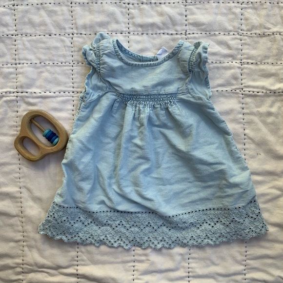 GAP Other - Sweet little chambray dress size 3-6m